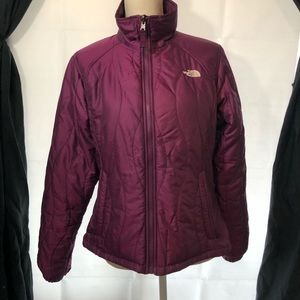 The north face purple puffer jacket size medium